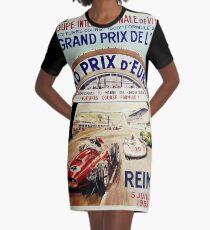 Gran Prix de LACF, Reims, 1959, original vintage poster Graphic T-Shirt Dress
