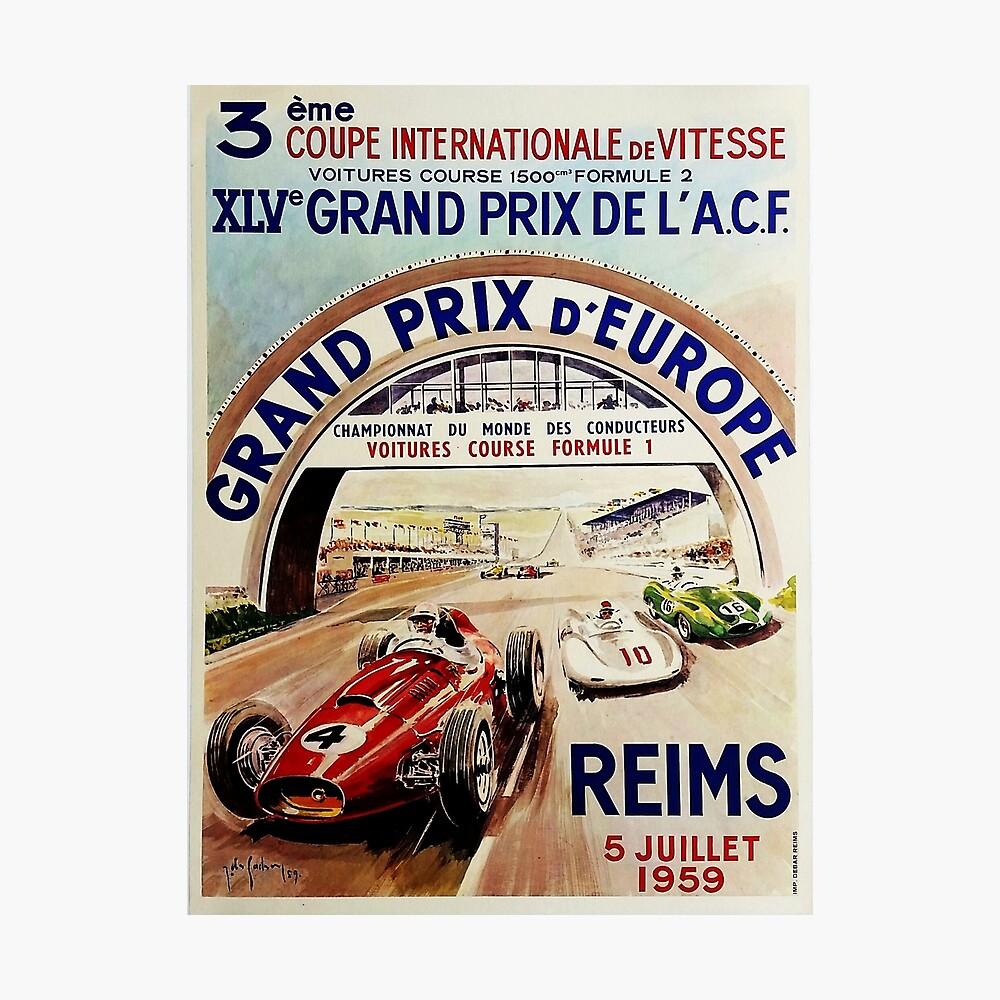 Gran Prix de LACF, Reims, 1959, originales Vintage-Poster Fotodruck