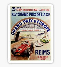 Gran Prix de LACF, Reims, 1959, original vintage poster Sticker