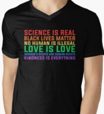 Anti Trump Science is real black lives matter T shirt  T-Shirt