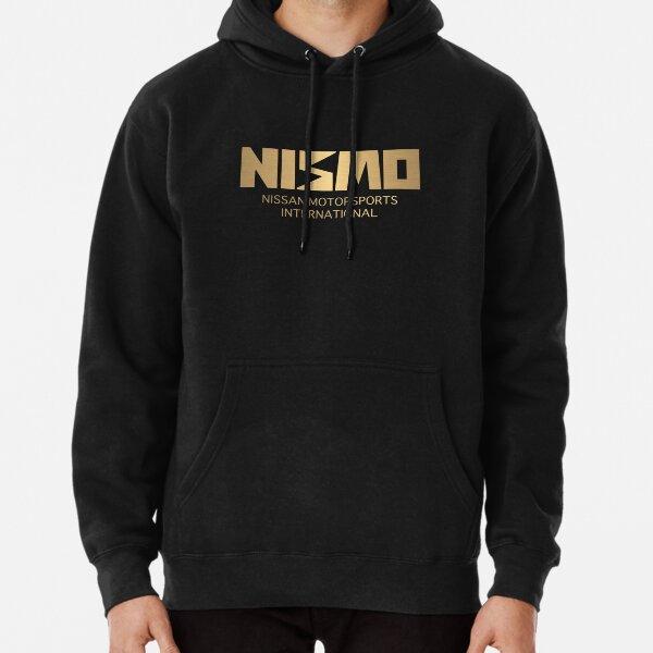 Retro Gold und Schwarz Nismo Nissan Motorsport Logo Hoodie