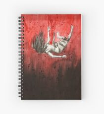 Falling Nightmare in Red Spiral Notebook