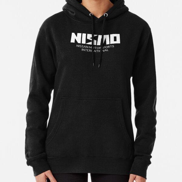 Logotipo blanco retro de Nismo Nissan Motorsport Sudadera con capucha