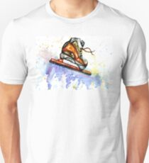 Watercolor Ice Skate Unisex T-Shirt