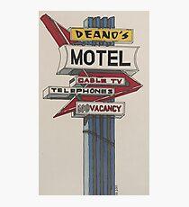 Deano's Motel Photographic Print