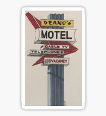 Deano's Motel Sticker