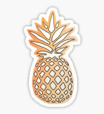 Pineapple Design in front of Sunset Sticker