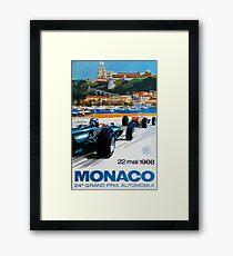 Gran Prix de Monaco, 1966, originales Vintage-Plakat Gerahmtes Wandbild