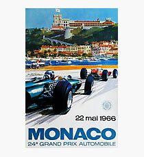 Gran Prix de Monaco, 1966, original vintage poster Photographic Print