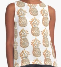 Pineapple Design in front of Sunset Contrast Tank
