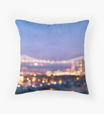 Bay Bridge Glow - San Francisco Throw Pillow