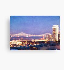 Bay Bridge Glow - San Francisco Canvas Print