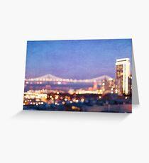 Bay Bridge Glow - San Francisco Greeting Card