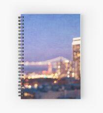 Bay Bridge Glow - San Francisco Spiral Notebook