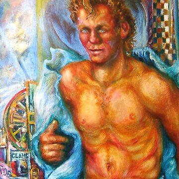 Oil Portrait of Larry by Hawkski