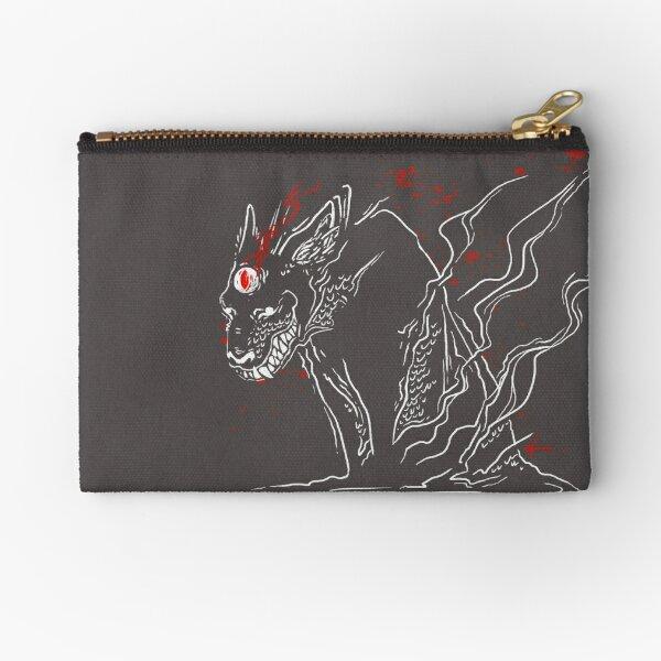 Dream-Eyed Wolf Zipper Pouch