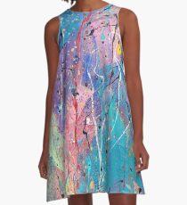 Aqua Dreams A-Line Dress