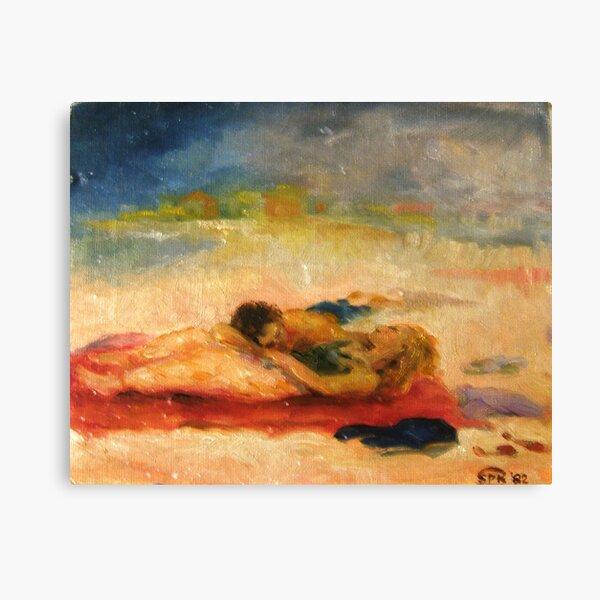 The Beach on Long Island Canvas Print