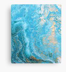 Blue Fantasy Pour Canvas Print