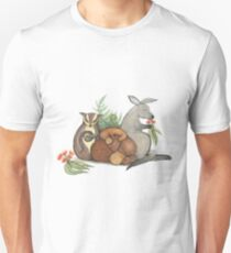 Native Australian Babies – With Kangaroo, Sugar Glider And Platypus T-Shirt