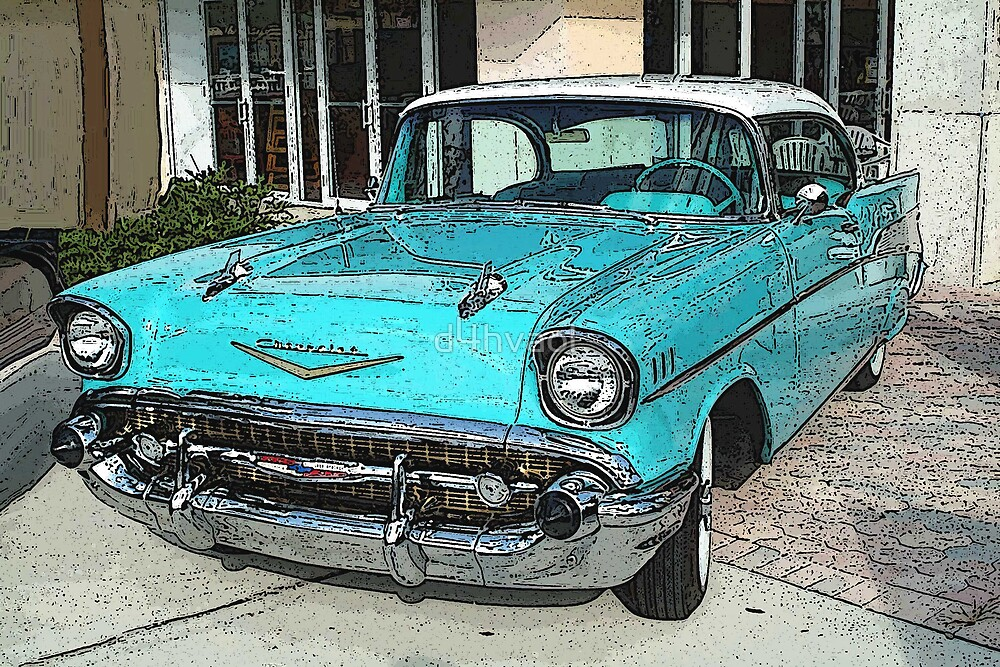 Can't shake the blues....!   1957 Chevrolet by d4hvaol