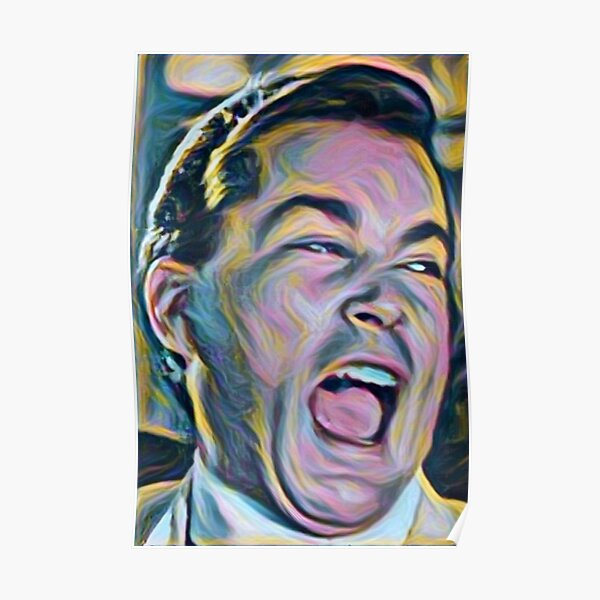 Ray Liotta Laugh mafia gangster movie Goodfellas painting Poster