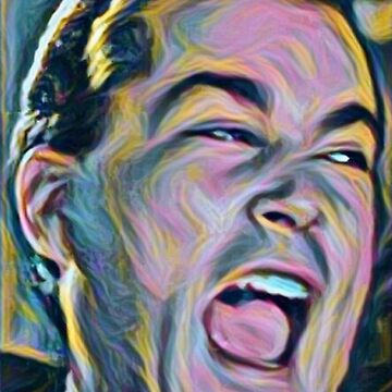 Ray Liotta Laugh mafia gangster movie Goodfellas painting by xsdni999