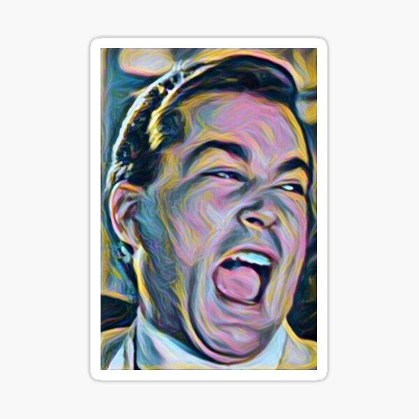 Ray Liotta Laugh mafia gangster movie Goodfellas painting Sticker