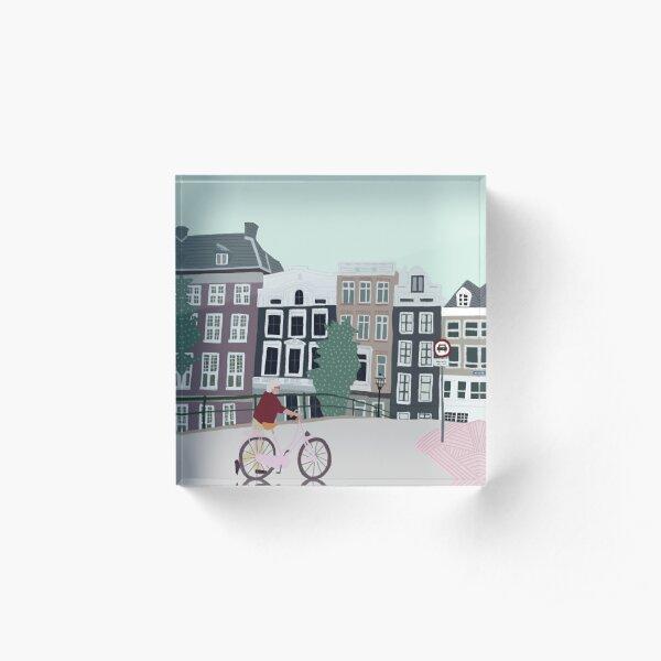 Bridge in Amsterdam Acrylic Block
