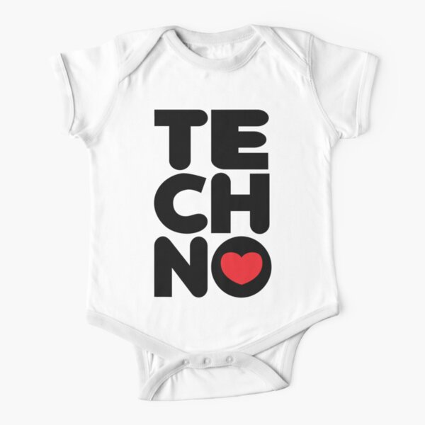 Techno Tower Music Quote Short Sleeve Baby One-Piece