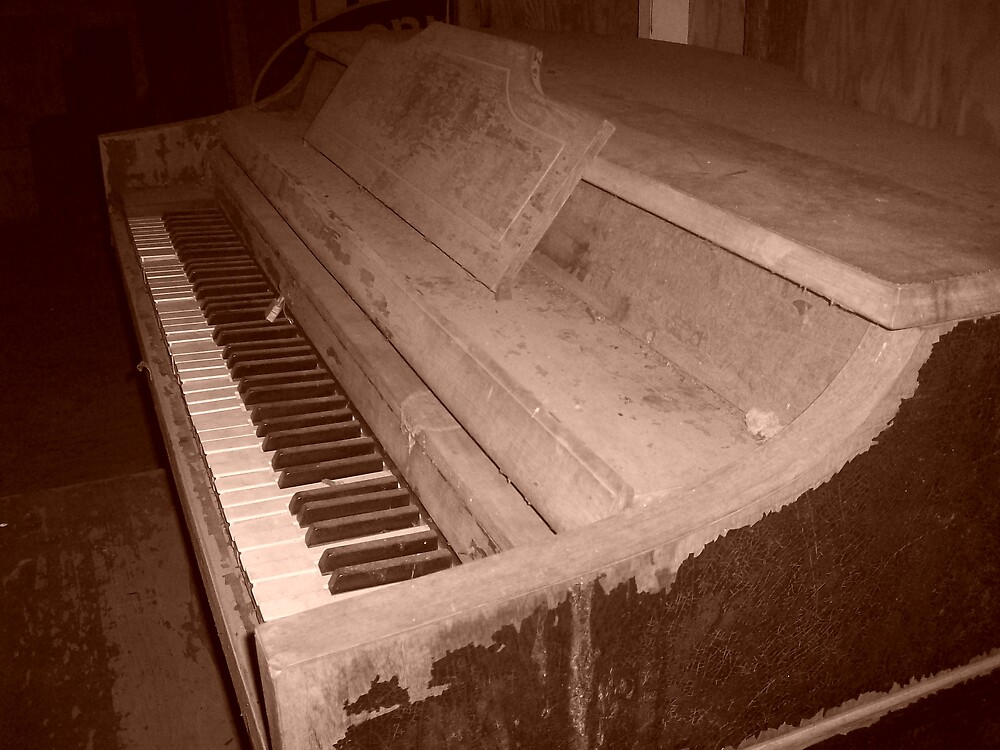 worn piano by Amanda Poe