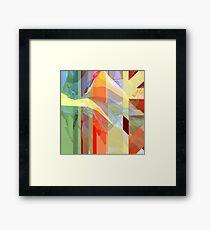 Sunlight Through Curtains (intense) Framed Art Print