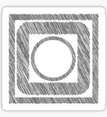Grey Frames. Sticker