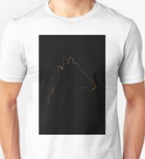 Close-up of giraffe silhouette with rim lighting T-Shirt