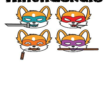 Teenage Mutant Ninja Corgis by KidCorgi