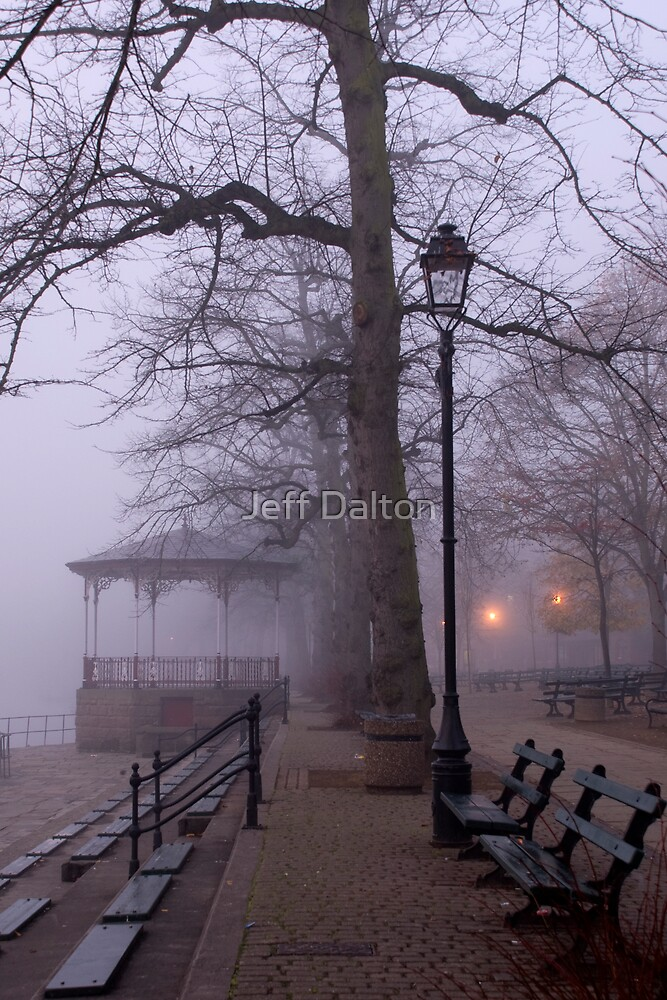 Benches in The Fog by Jeff Dalton