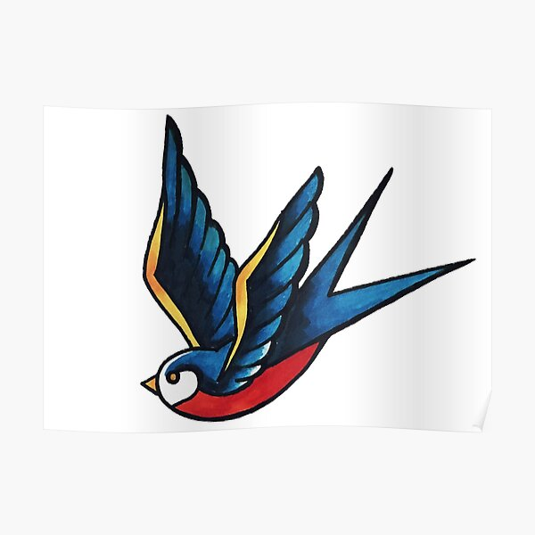 Sailor Bird Poster