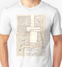 Vintage papers mixed media collage Unisex T-Shirt