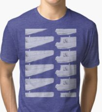 narrowboat pattern - no problem Tri-blend T-Shirt