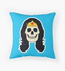 Skull band Throw Pillow