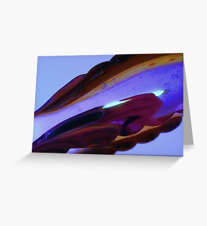Deep in purple. Greeting Card