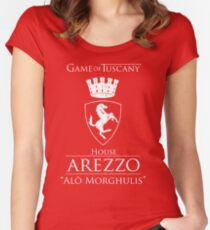 Game of Tuscany - Arezzo Women's Fitted Scoop T-Shirt