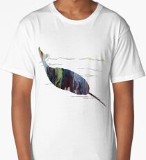Water color art - Narwhal Long T-Shirt