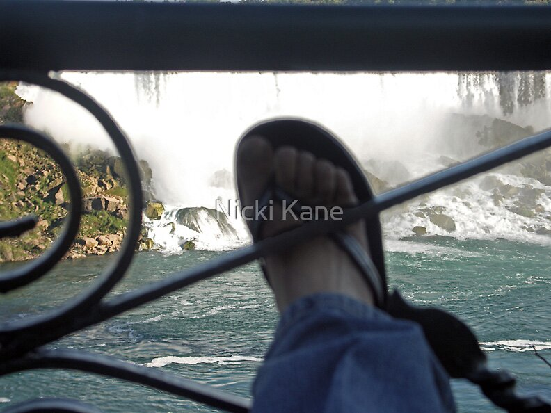 Toes At the Falls  by Nicki Kane