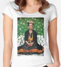 Frida Kahlo Vouge Cover poster high quality Women's Fitted Scoop T-Shirt