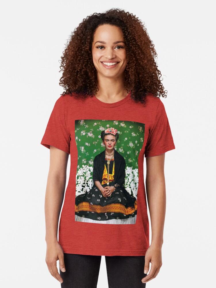 Alternative Ansicht von Frida Kahlo Vouge Cover-Poster von hoher Qualität Vintage T-Shirt