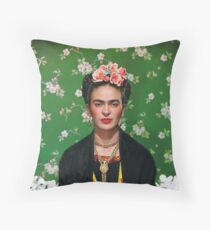 Frida Kahlo Vouge Cover poster high quality Throw Pillow