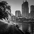 Afternoon along the Yarra  by Christine Wilson