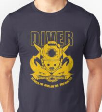 Blue and Gold Diver T-Shirt