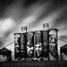Silos, Sheep Hills by Christine Wilson